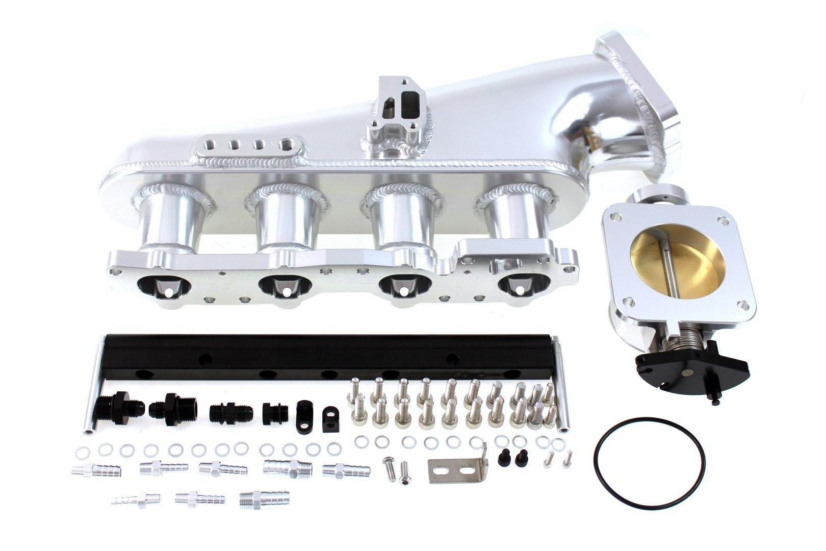 Kolektor ssący Nissan S14 SR20DET z przepustnicą i listwą paliwową - GRUBYGARAGE - Sklep Tuningowy